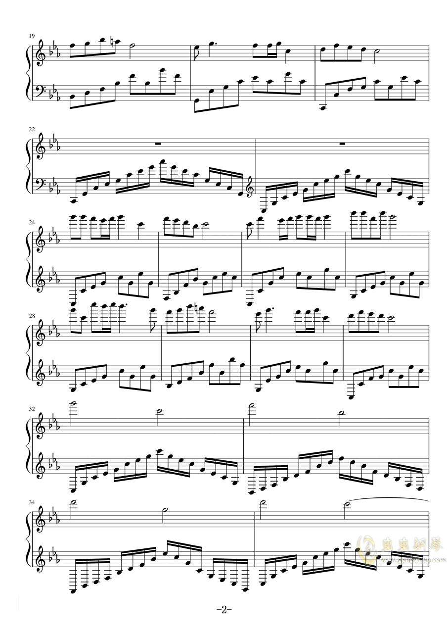 使至塞上钢琴谱 第2页