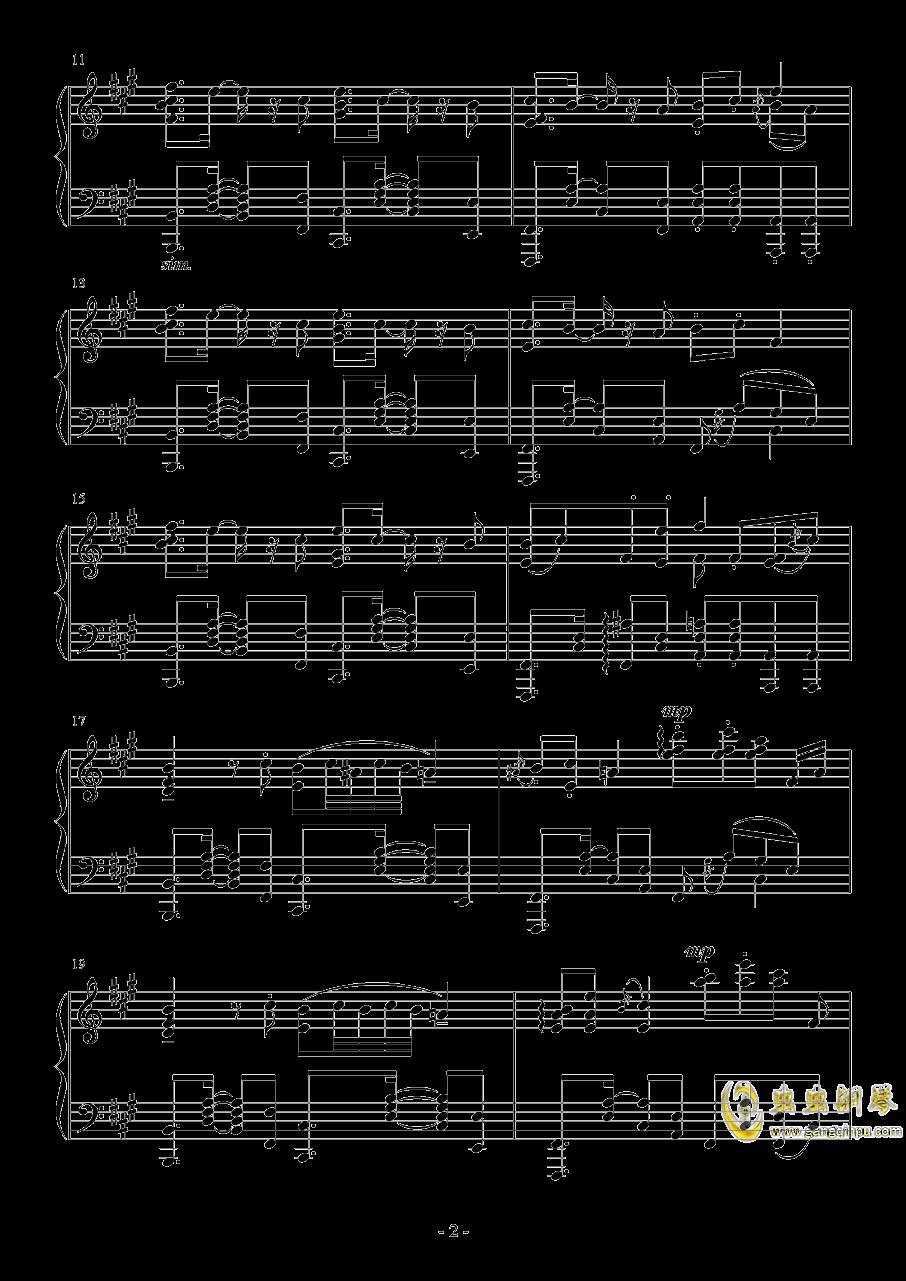 彗星ハネム�`ン钢琴谱 第2页