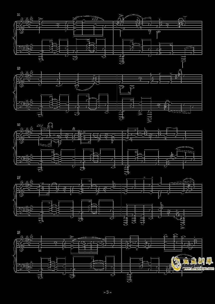 彗星ハネム�`ン钢琴谱 第3页