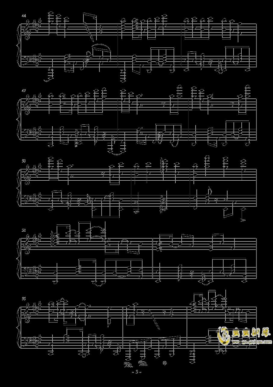 彗星ハネム�`ン钢琴谱 第5页
