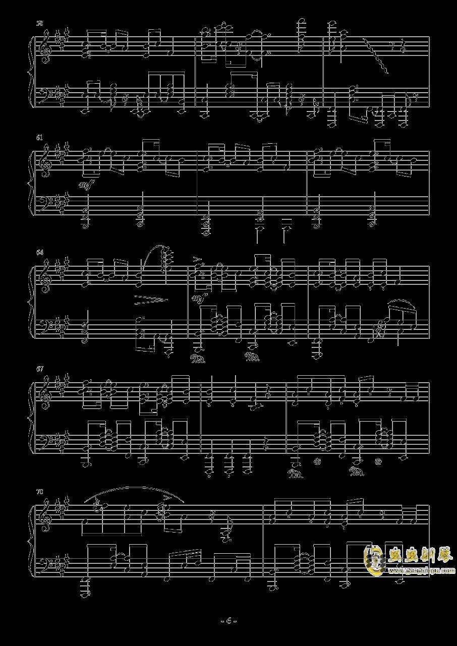 彗星ハネム�`ン钢琴谱 第6页