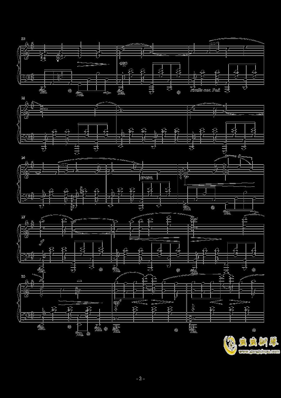 Cloud Smiles(FFVII AC)钢琴谱 第2页