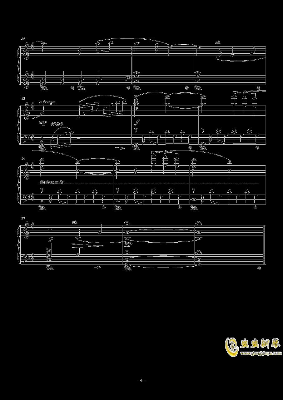 Cloud Smiles(FFVII AC)钢琴谱 第4页