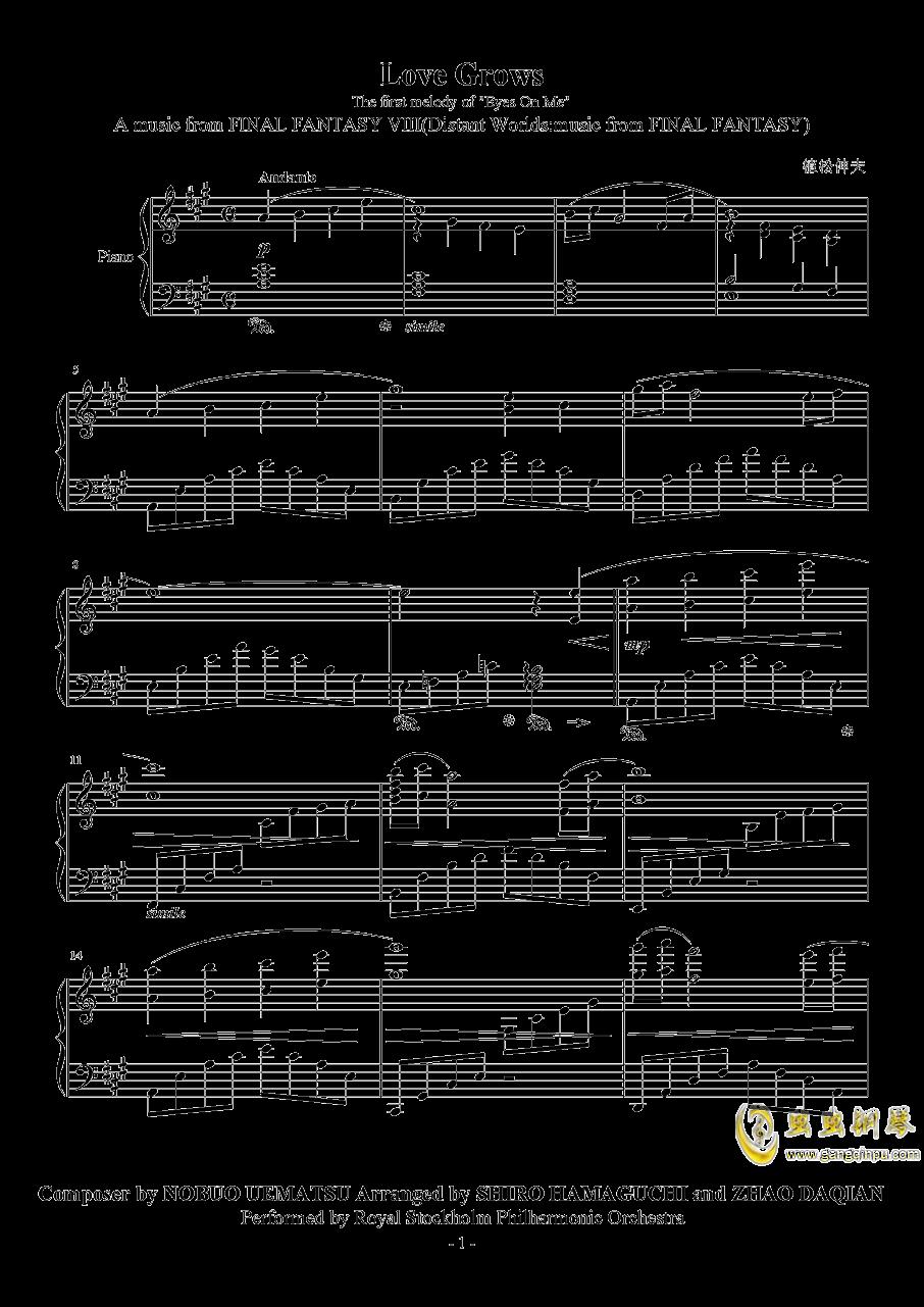 Love Grows钢琴谱 第1页
