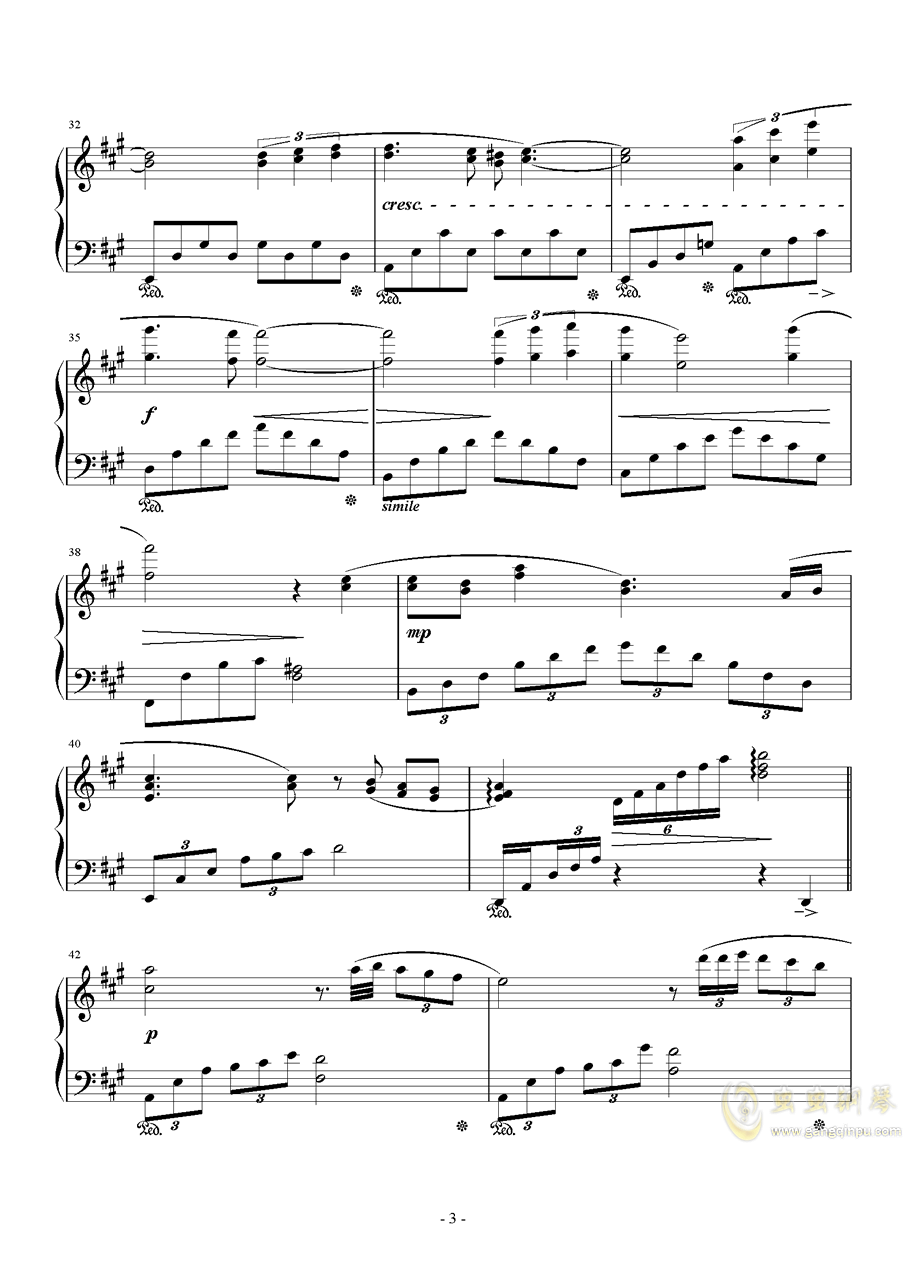Love Grows钢琴谱 第3页