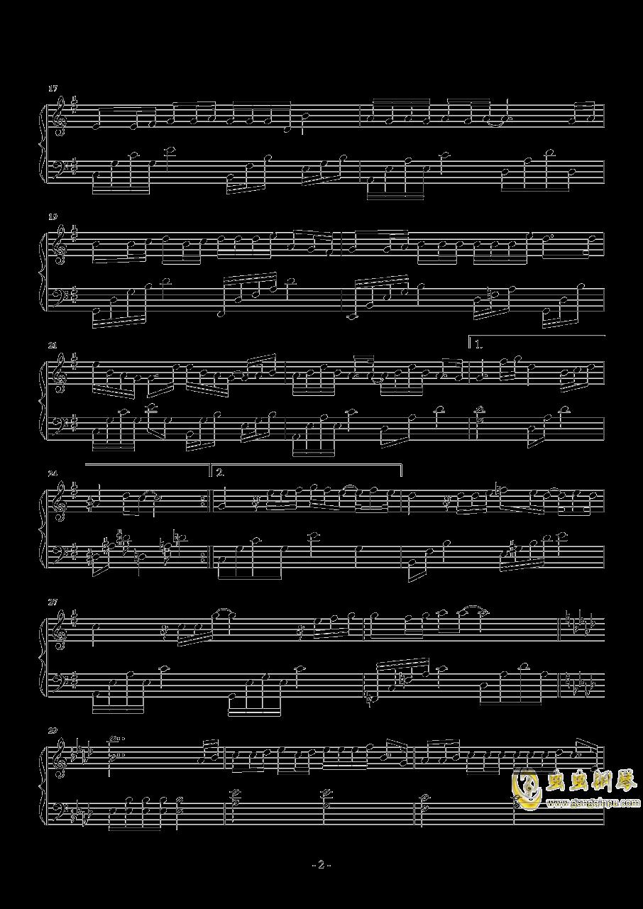 爱不由我钢琴谱 第2页