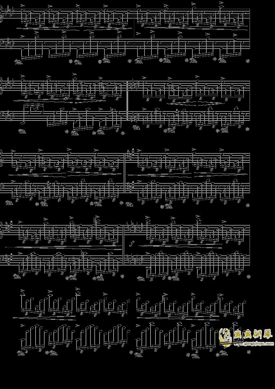 肖邦练习曲op25no1钢琴谱 第3页