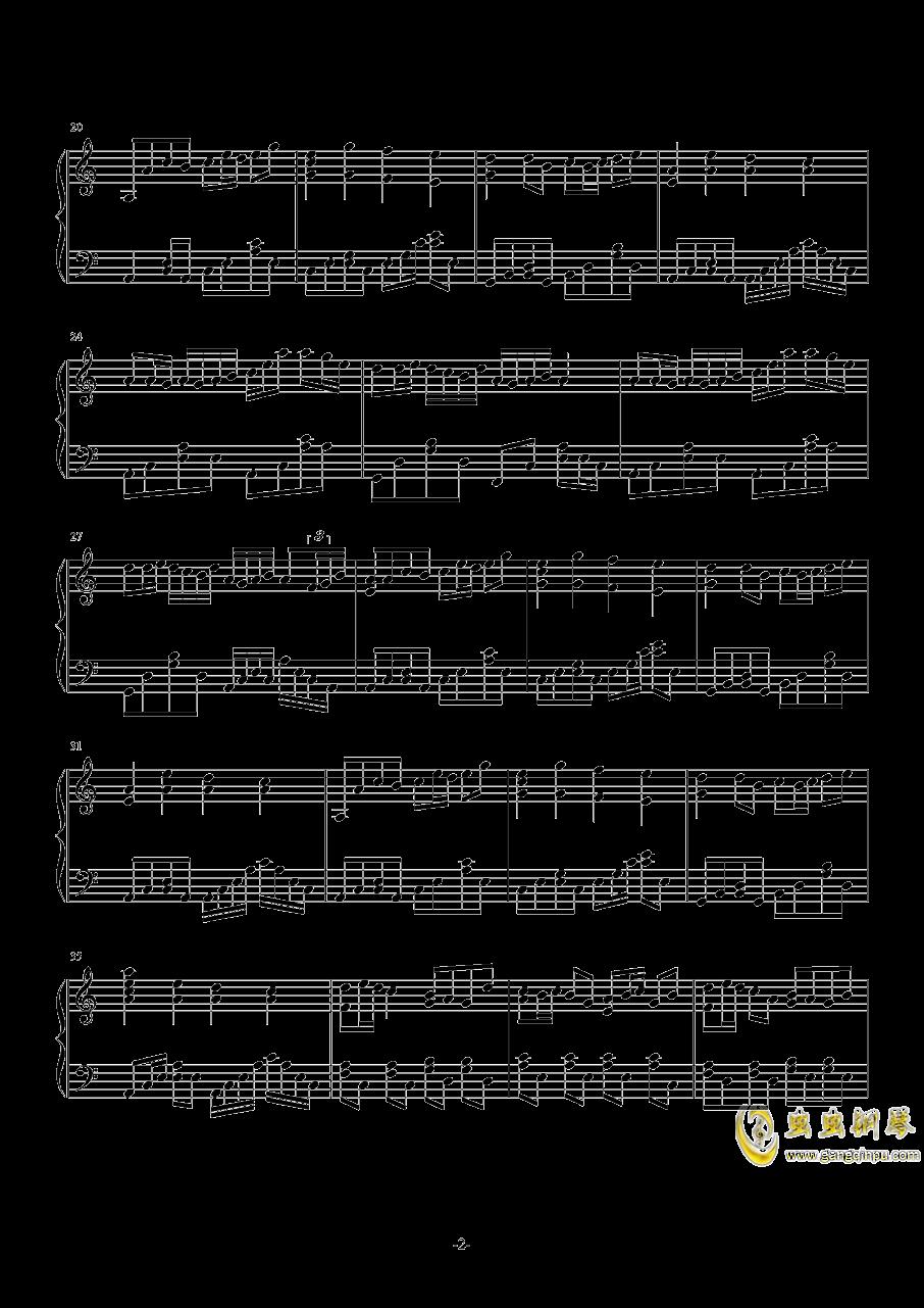 FAIRY TAIL メインテ�`マ钢琴谱 第2页