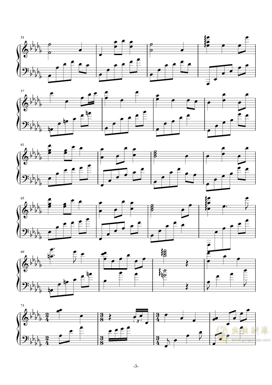 Silent Night钢琴谱 第3页