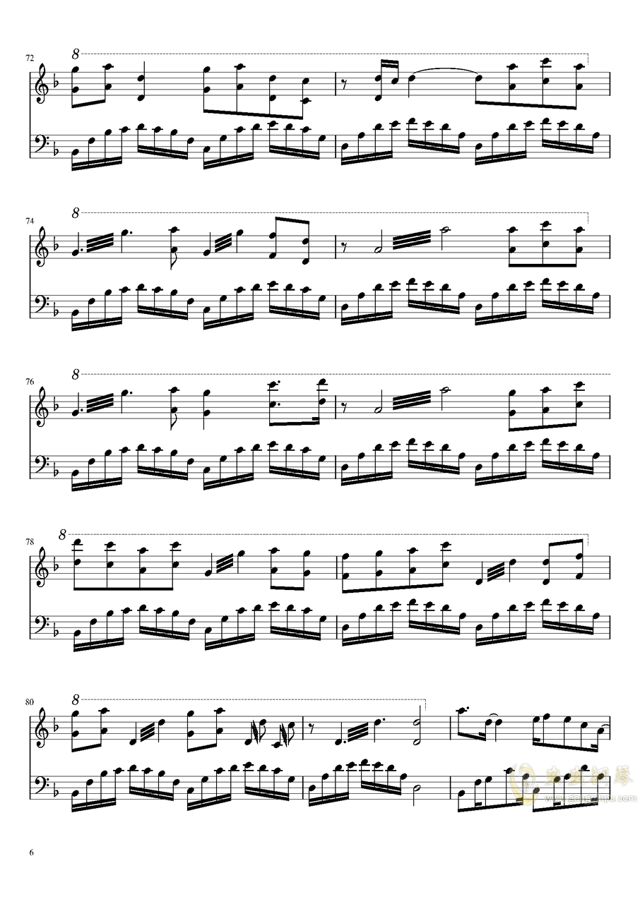 牵丝戏钢琴谱 第6页