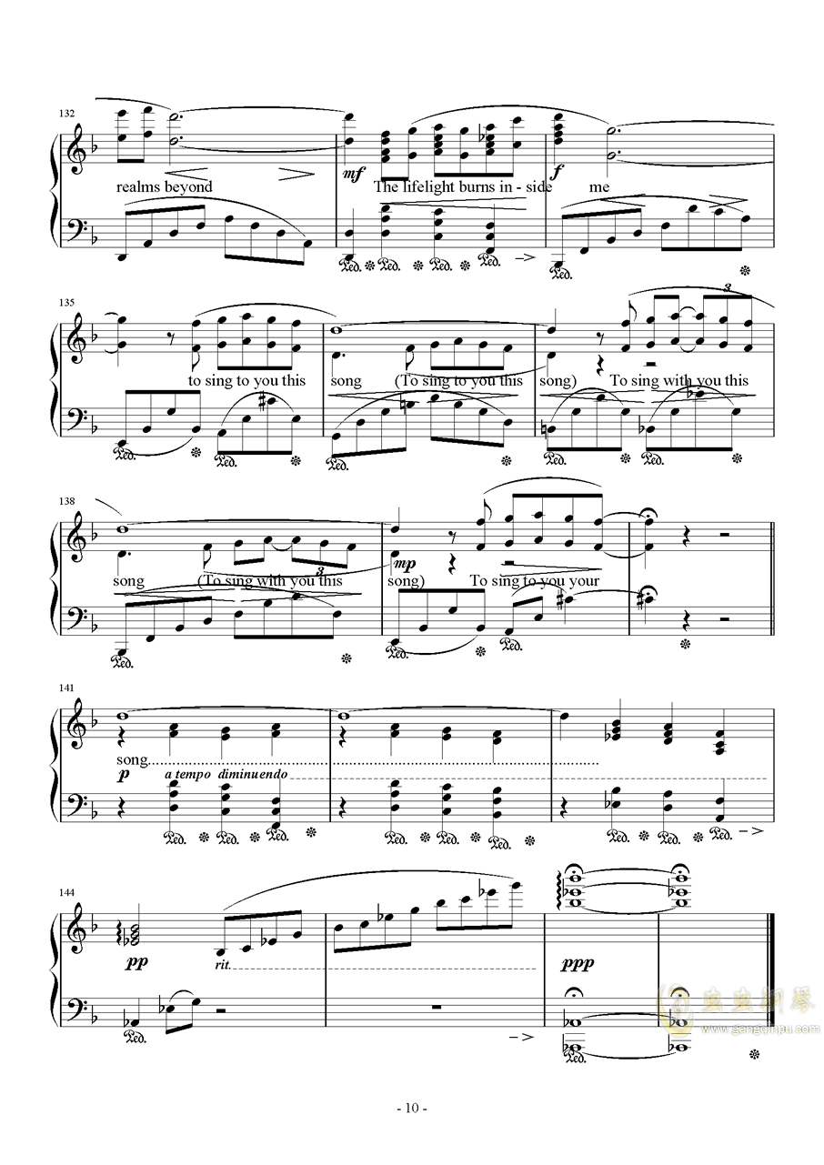 Distant Worlds钢琴谱 第10页