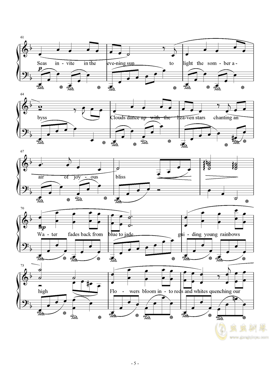 Distant Worlds钢琴谱 第5页