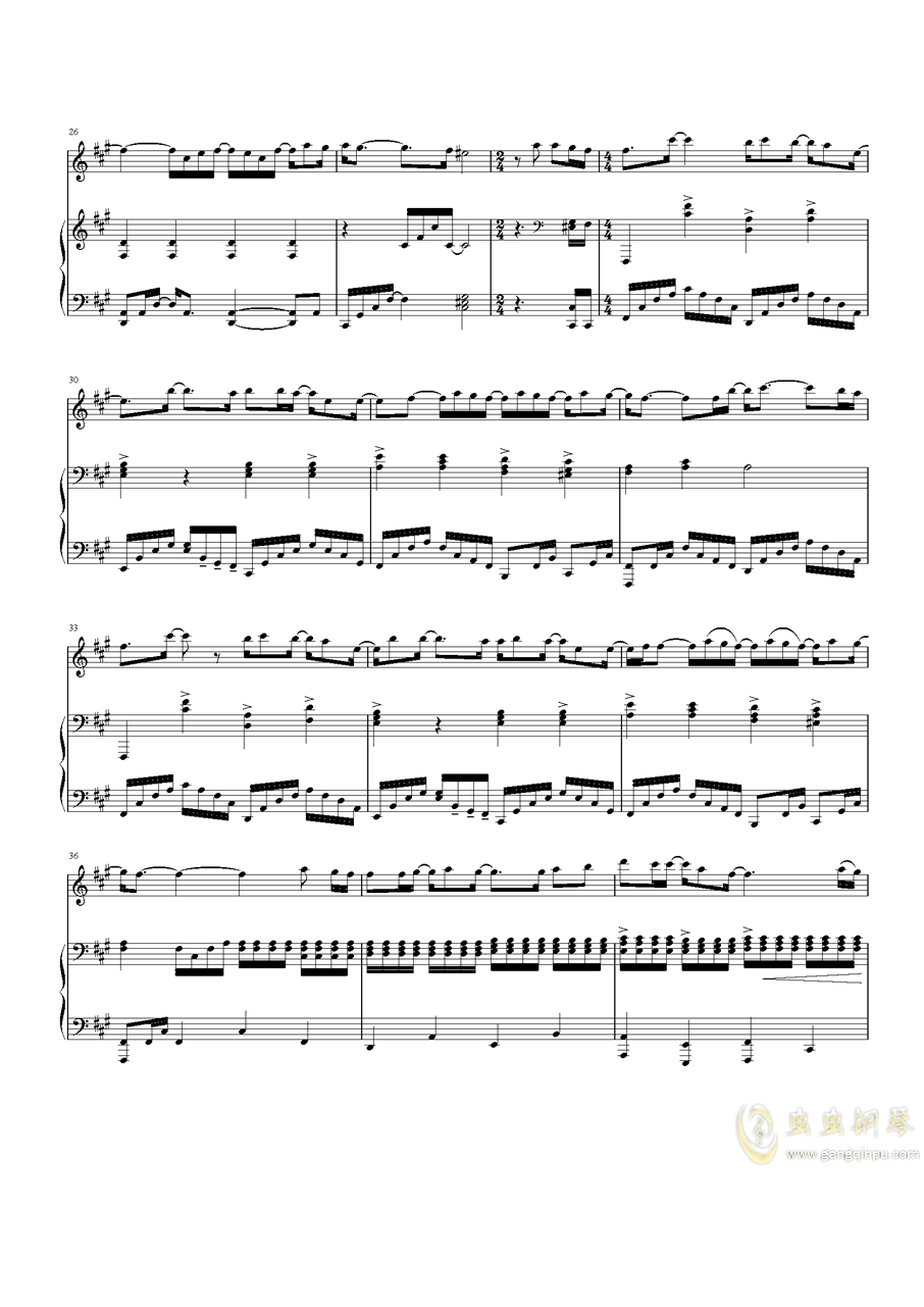 Speechless钢琴谱 第3页