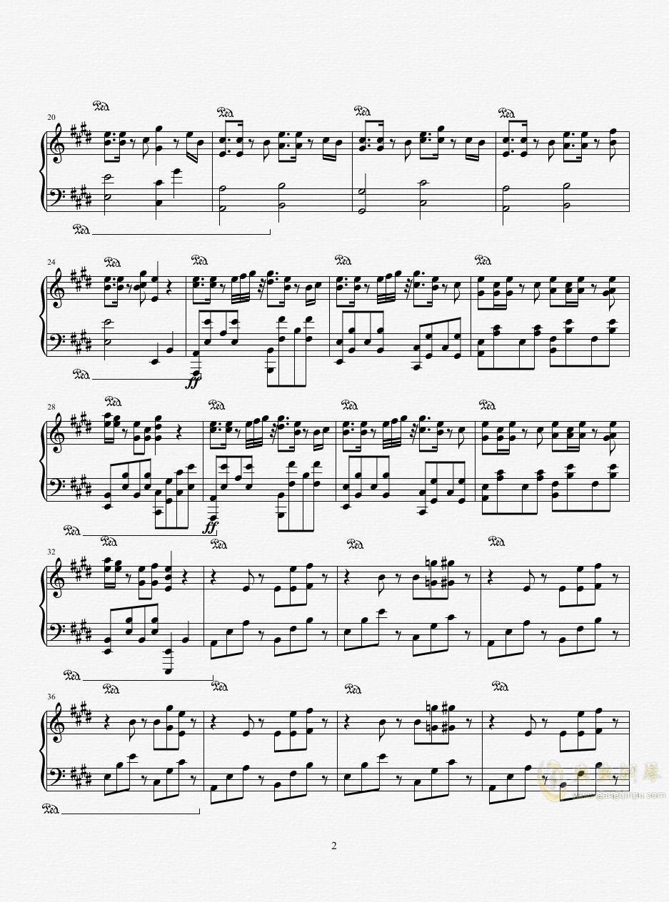 恋爱サ�`キュレ�`ション钢琴谱 第2页