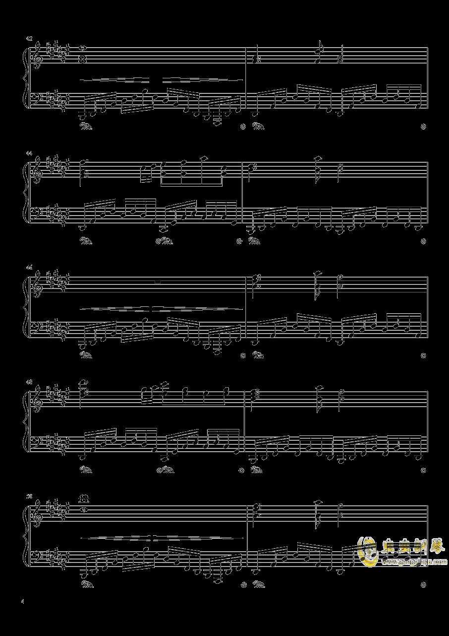 Dream Battle钢琴谱 第4页