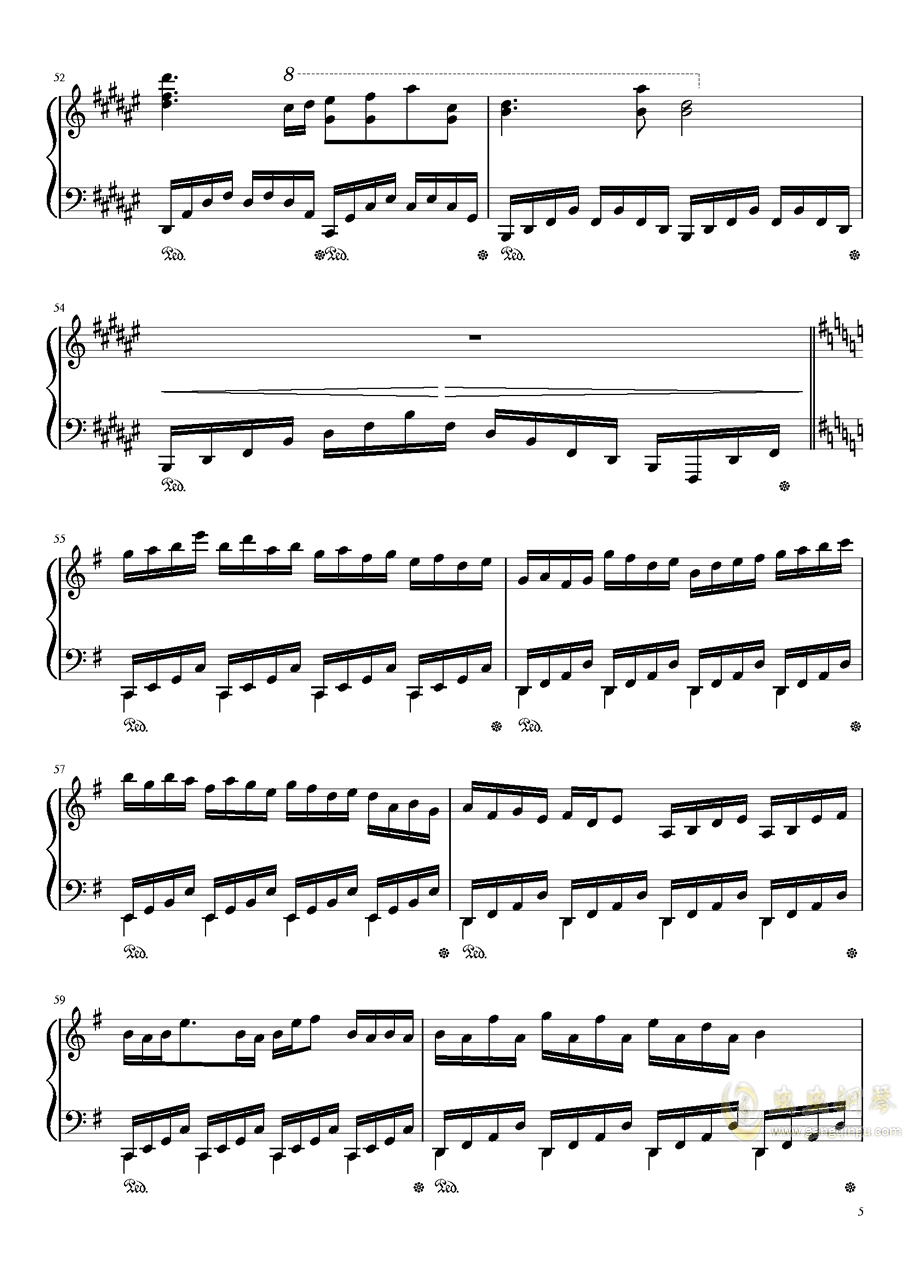 Dream Battle钢琴谱 第5页