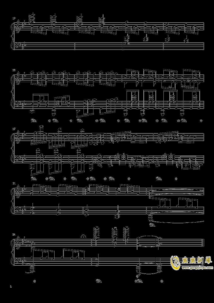 旧日之歌钢琴谱 第2页