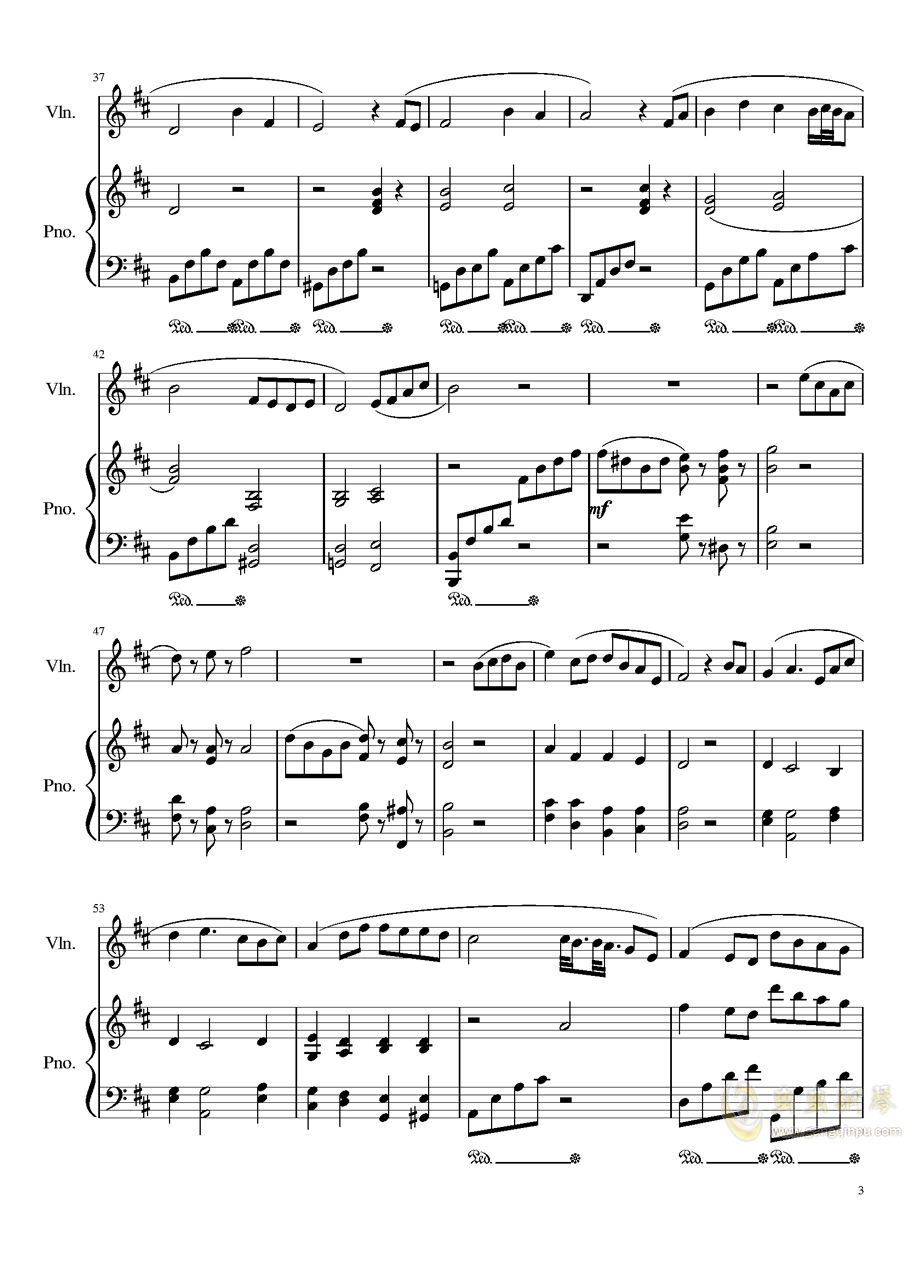 Andante for piano and violin, Op.100bag88环亚娱乐谱 第3页