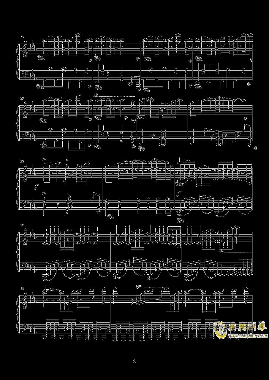 星幽剑士~The ★Alice-in-Wonderland Angel钢琴谱 第2页
