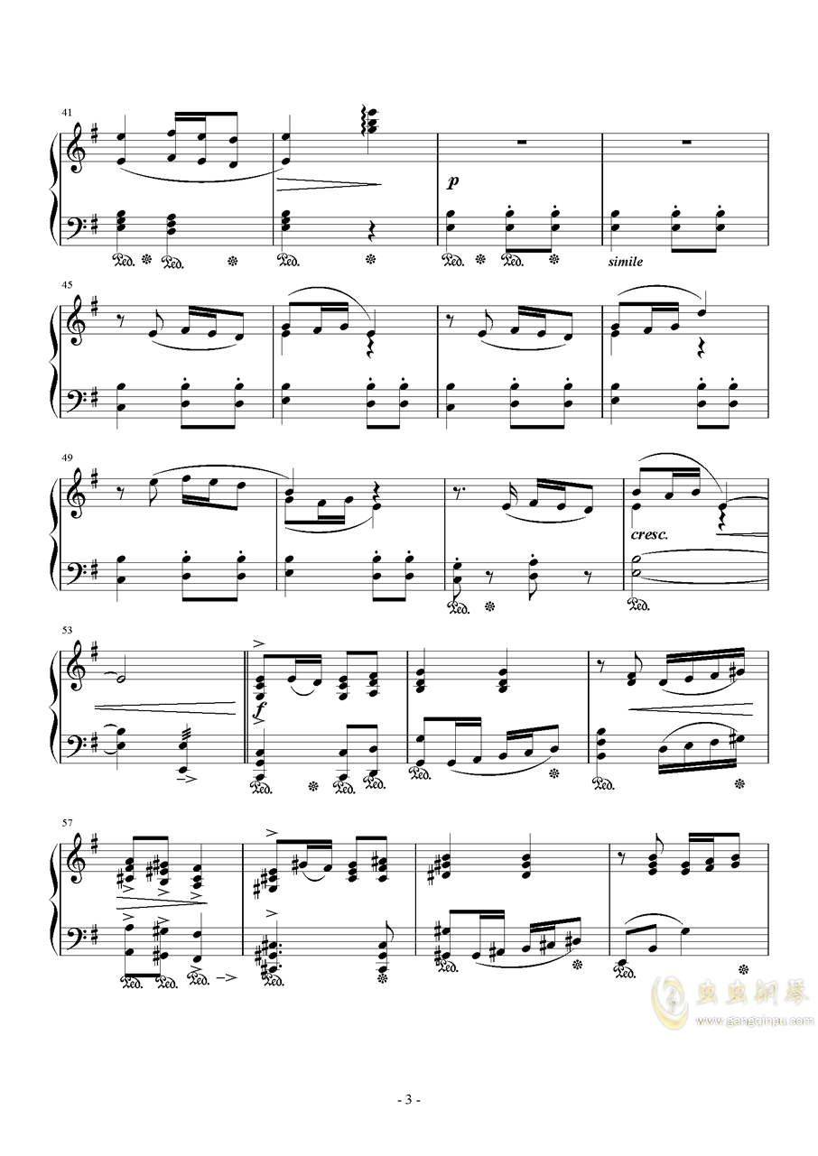 Ronfaure钢琴谱 第3页