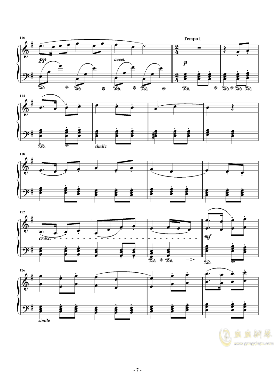 Ronfaure钢琴谱 第7页