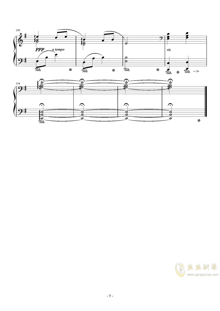 Ronfaure钢琴谱 第9页