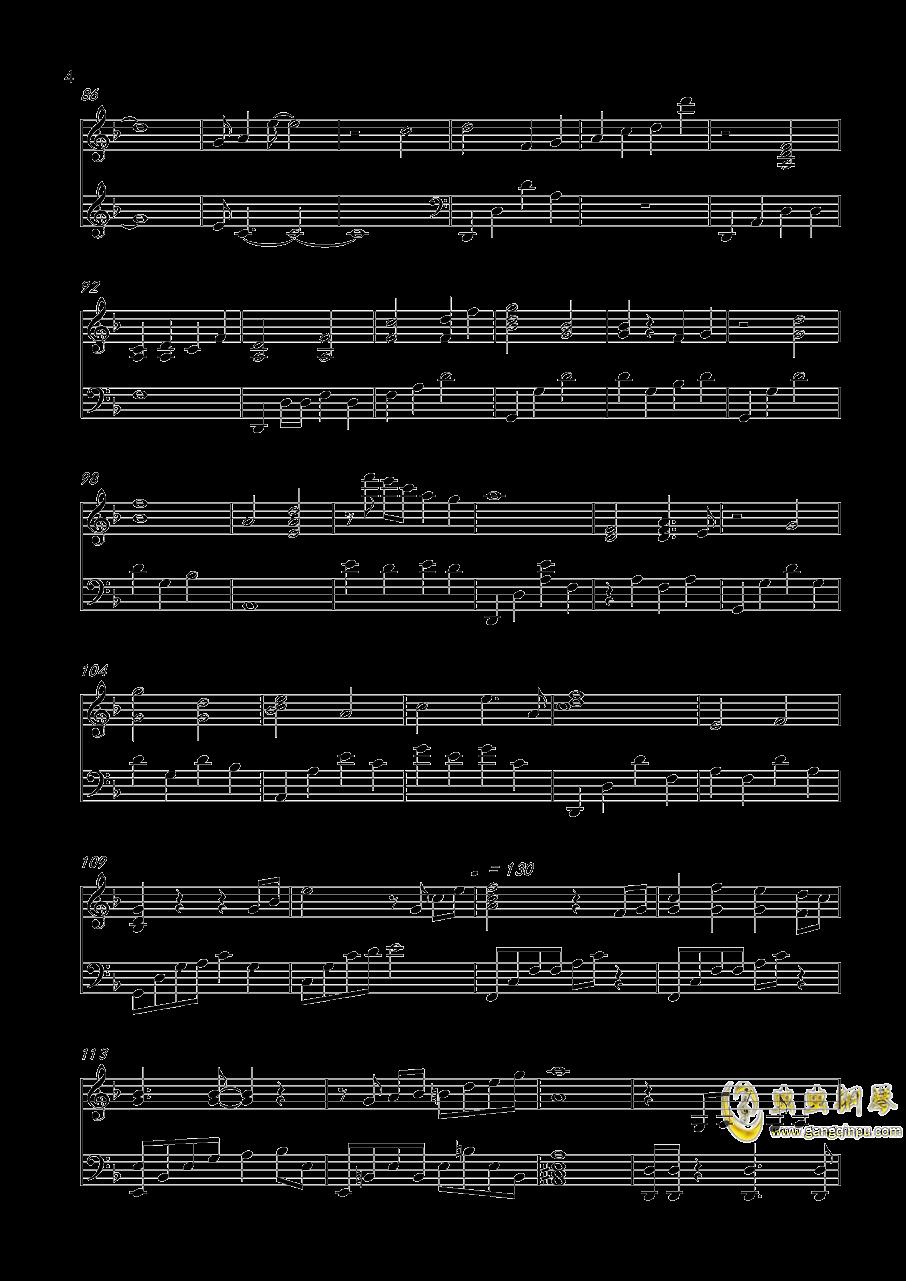世上始终你好钢琴谱 第4页