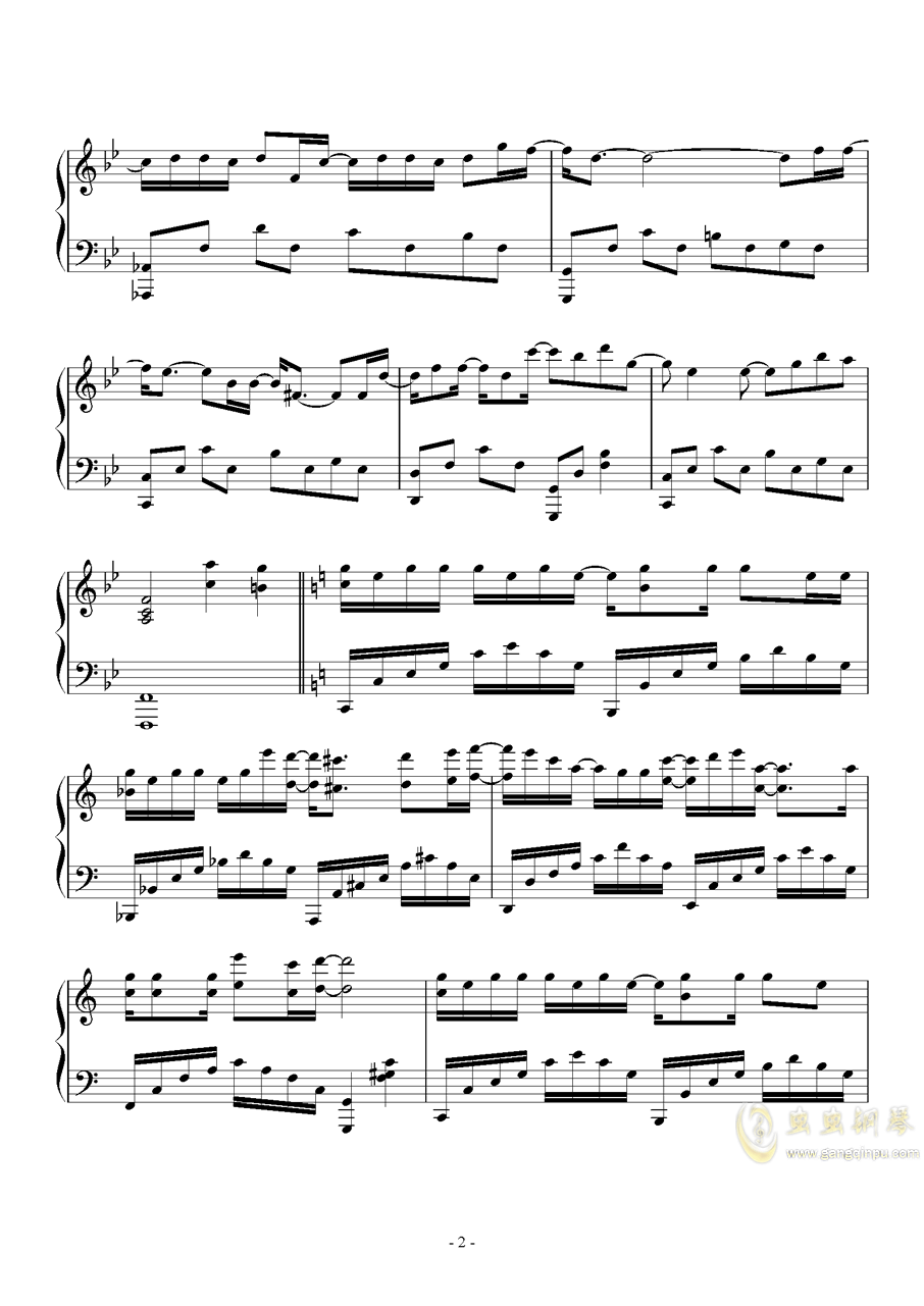 木偶人钢琴谱 第2页
