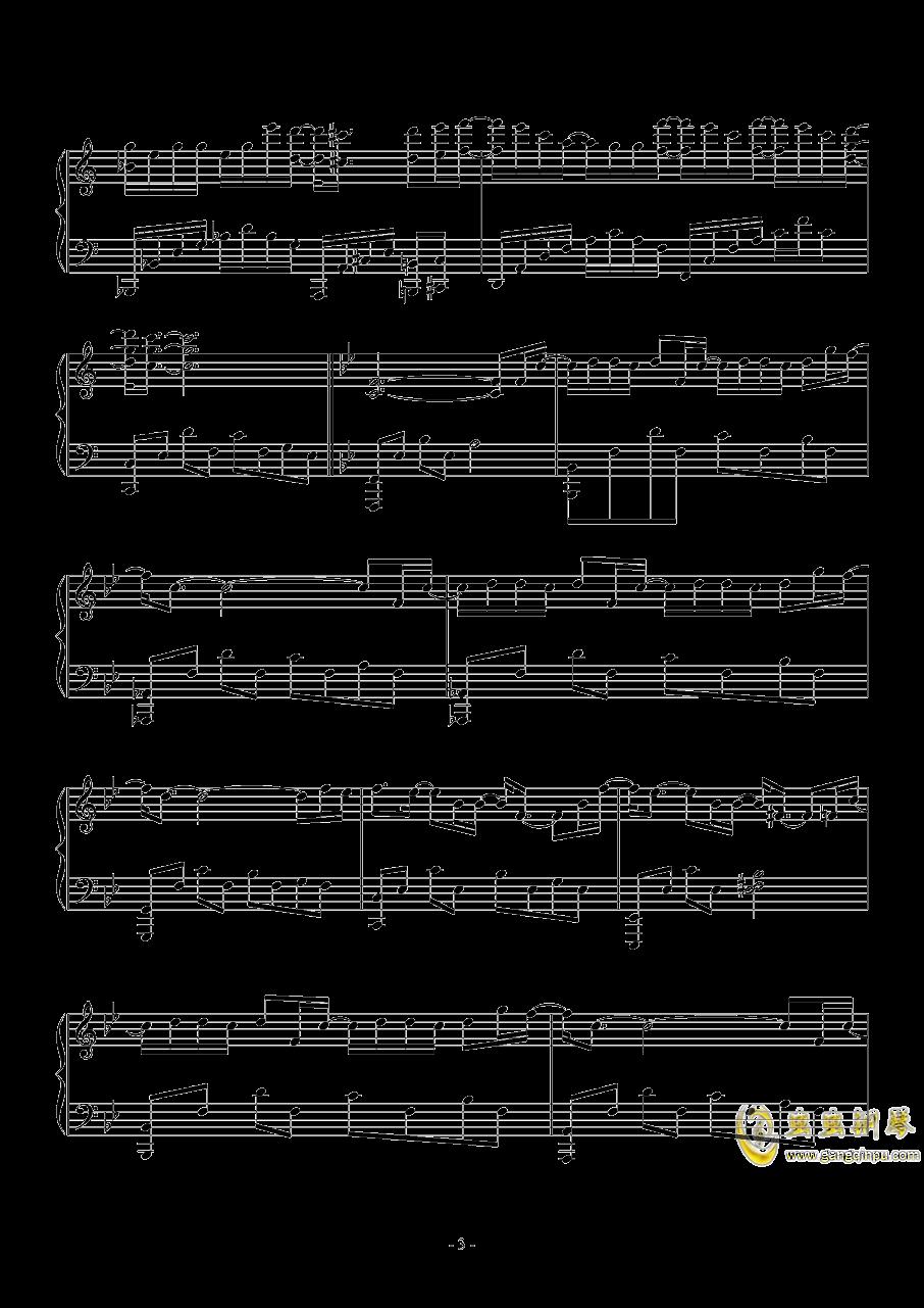 木偶人钢琴谱 第3页