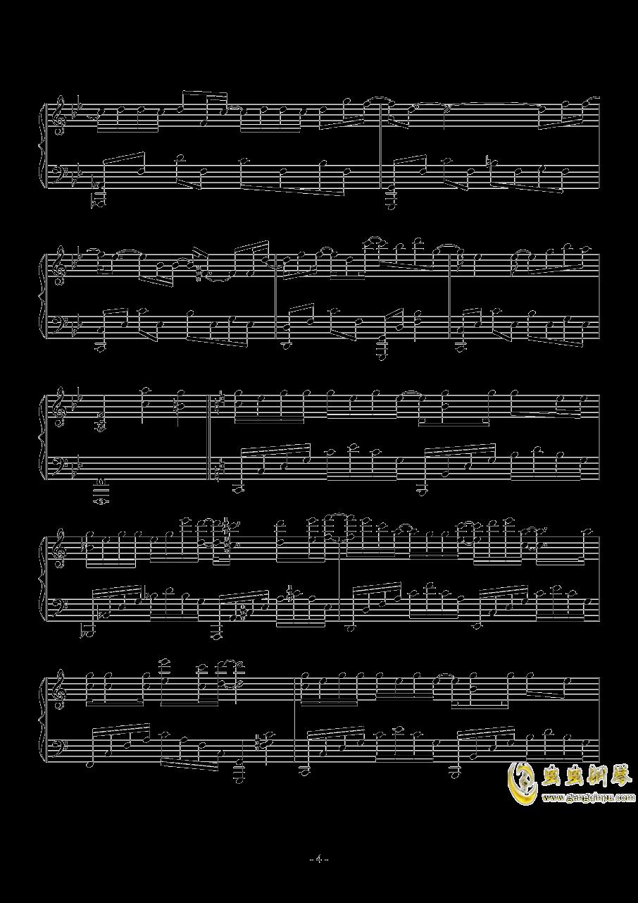 木偶人钢琴谱 第4页