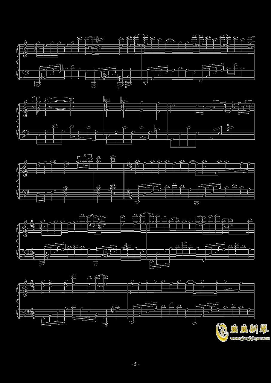 木偶人钢琴谱 第5页