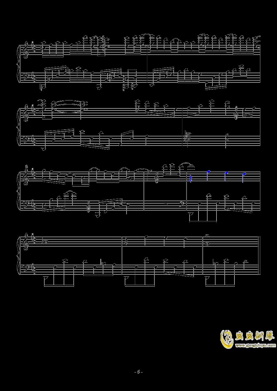 木偶人钢琴谱 第6页