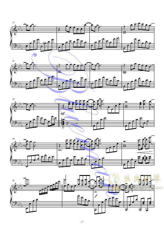 抚仙湖钢琴谱 第2页