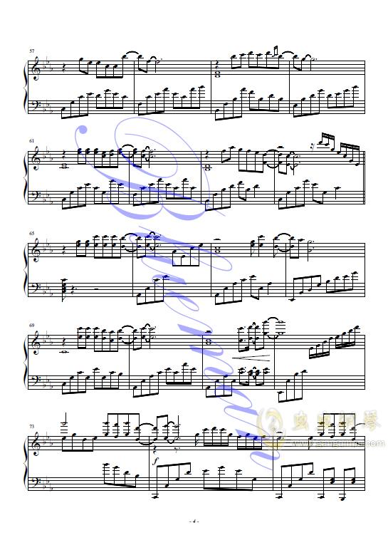 抚仙湖钢琴谱 第4页