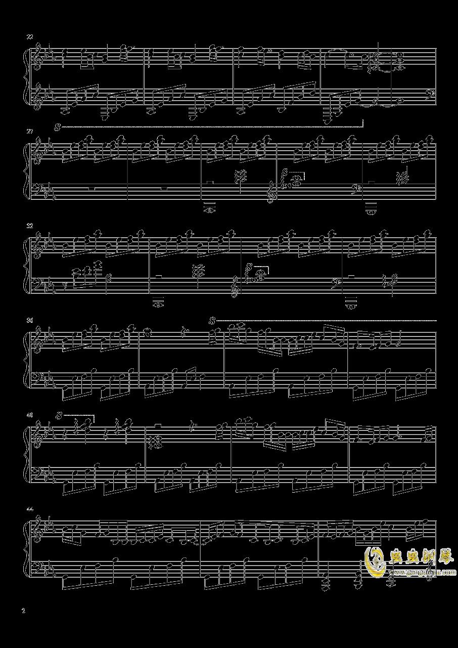 夏影~钢琴谱 第2页