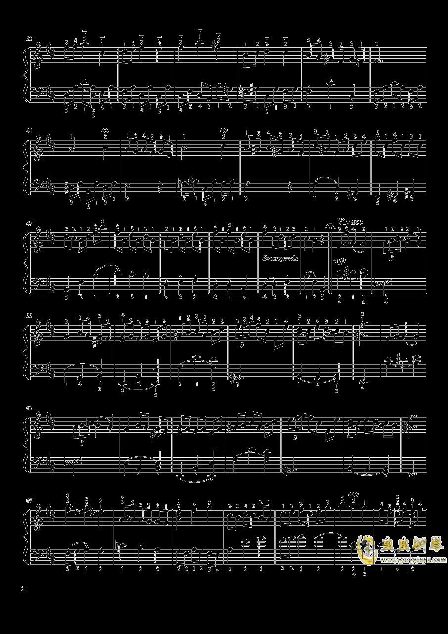 B小调法国组曲No.3小步舞曲钢琴谱 第2页