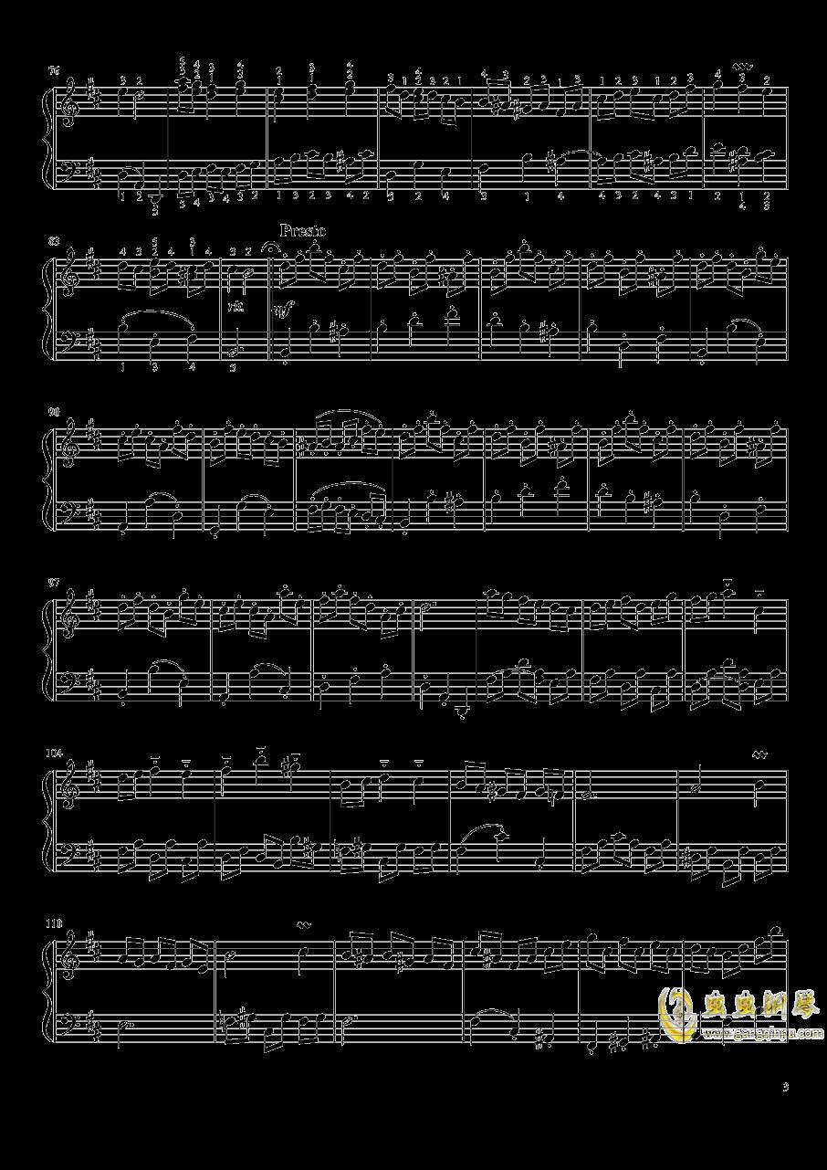 B小调法国组曲No.3小步舞曲钢琴谱 第3页