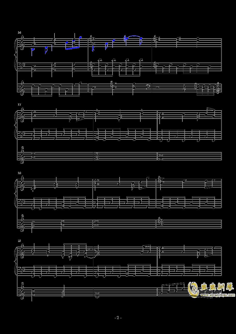 东方project-�L符钢琴谱 第2页