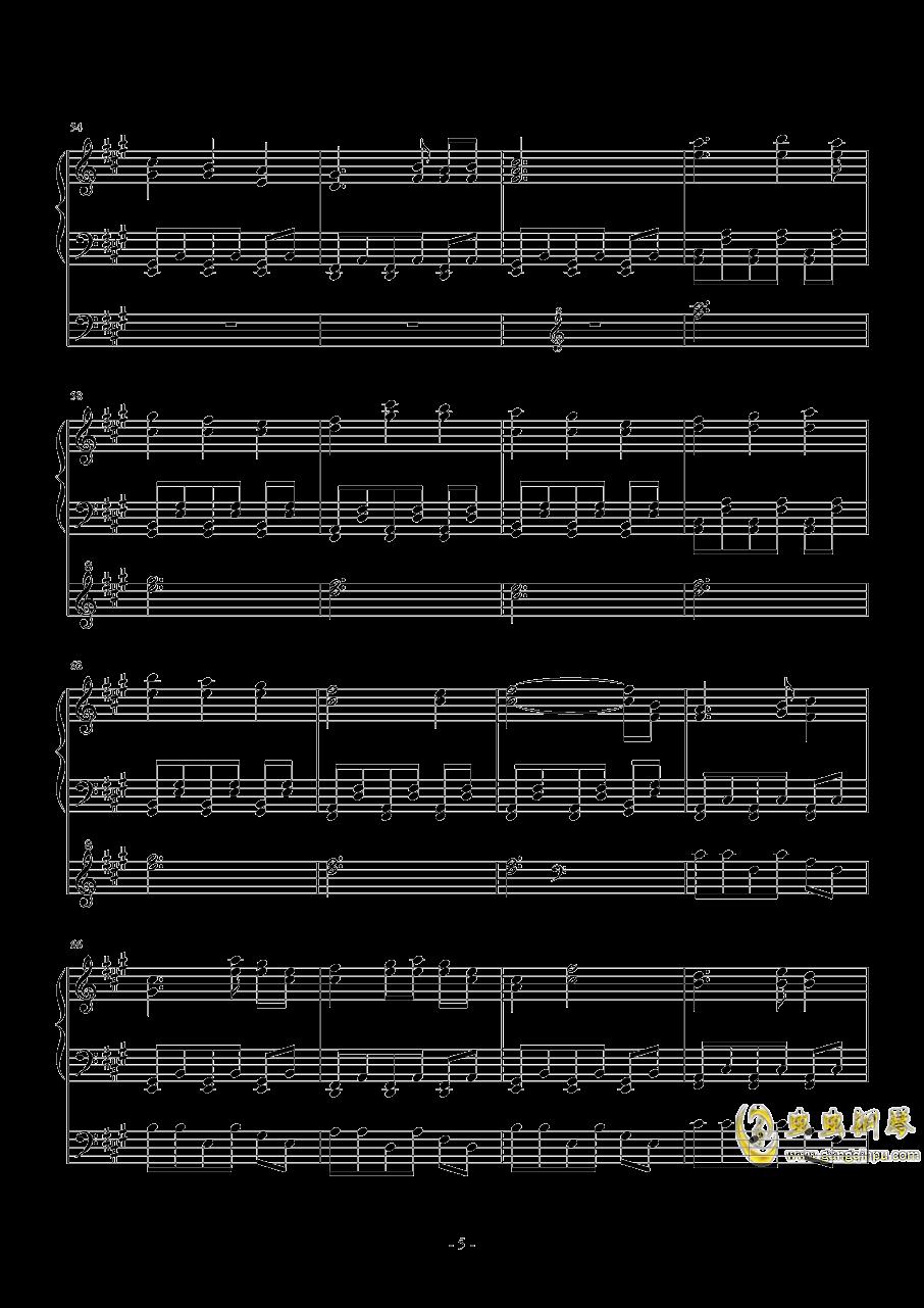 东方project-�L符钢琴谱 第5页