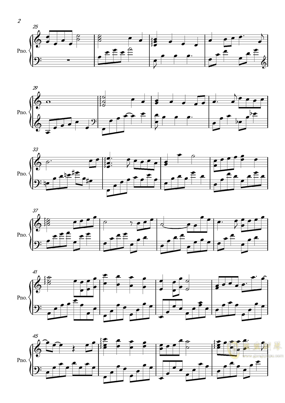 陈情令钢琴谱 第2页