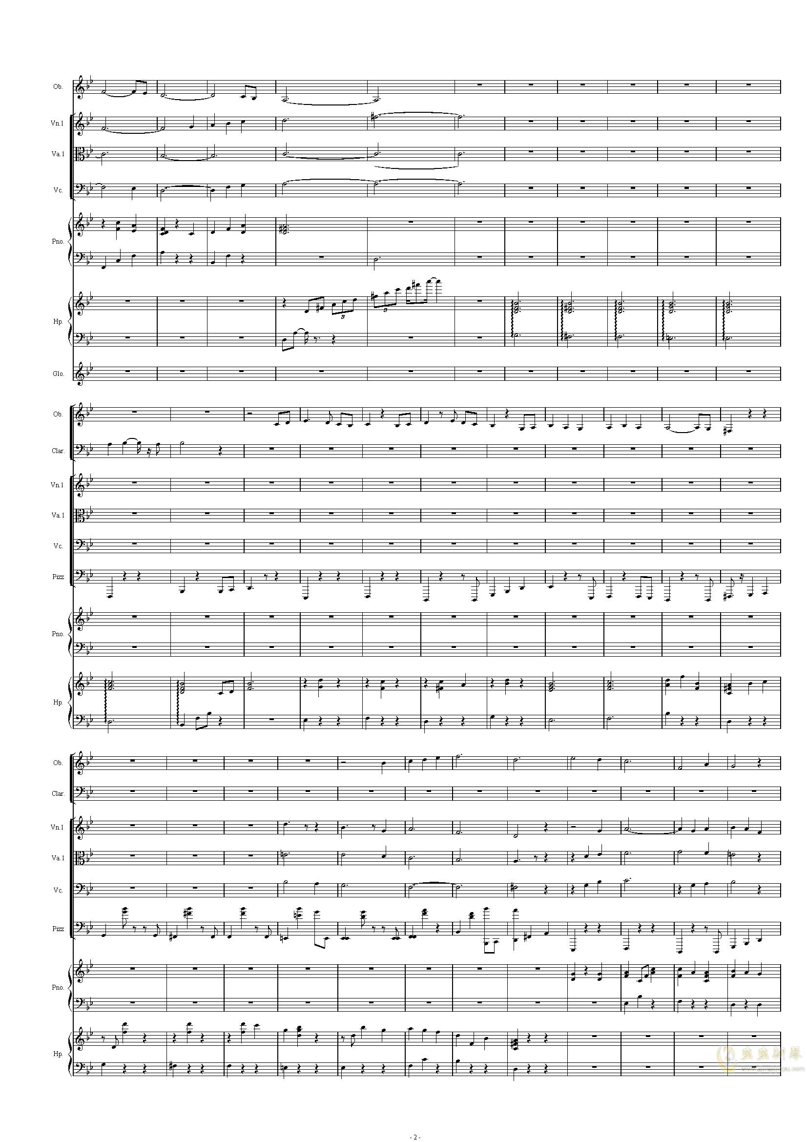 配乐尝试钢琴谱 第2页