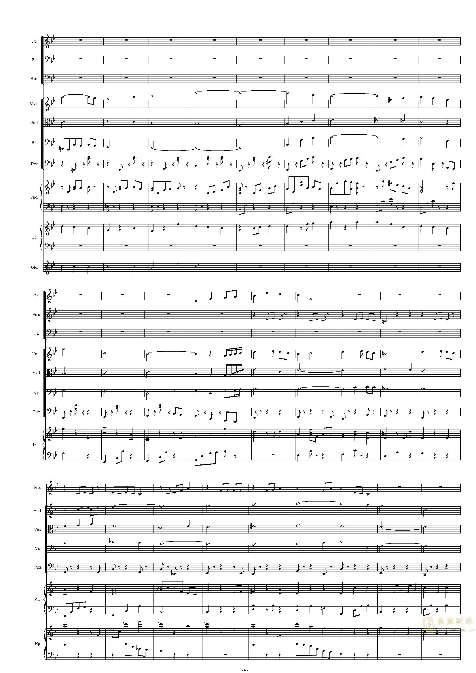 配乐尝试钢琴谱 第4页