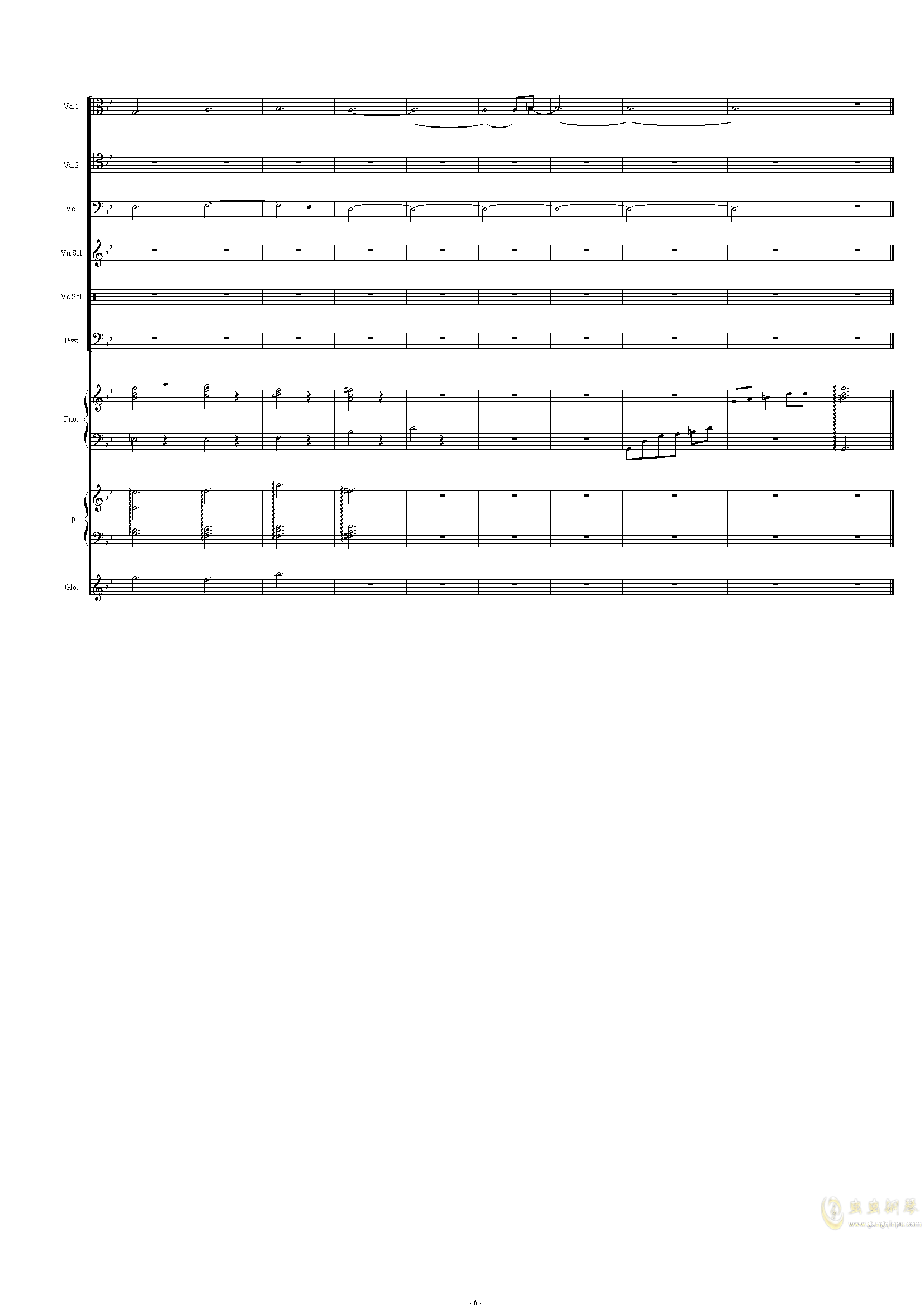 配乐尝试钢琴谱 第6页