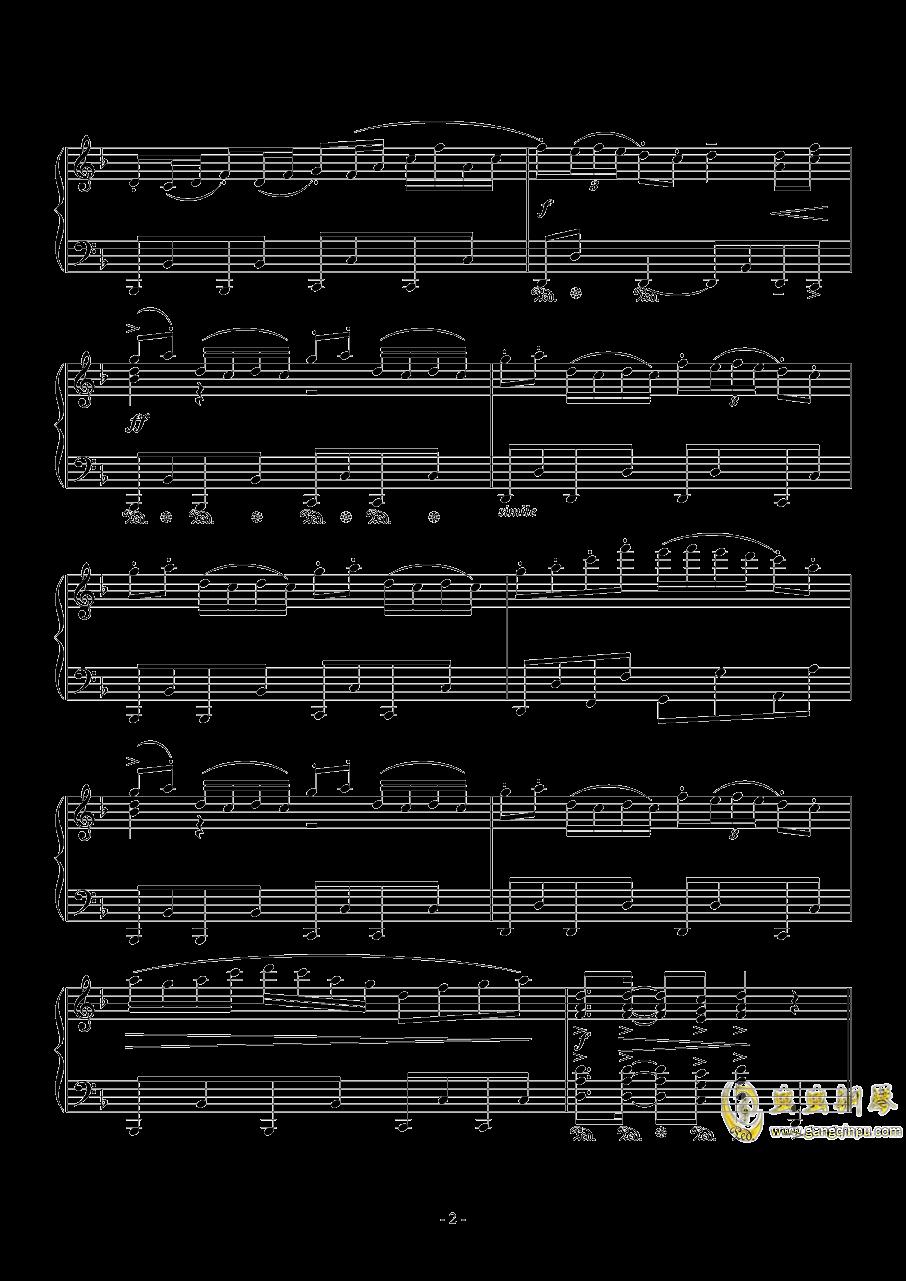 千本樱钢琴谱 第2页