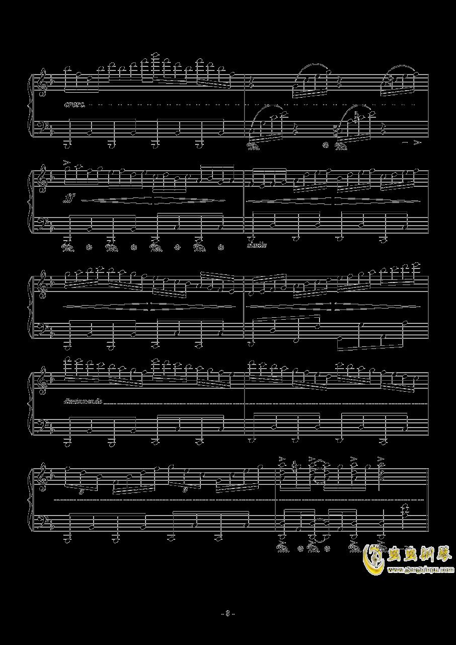 千本樱钢琴谱 第8页