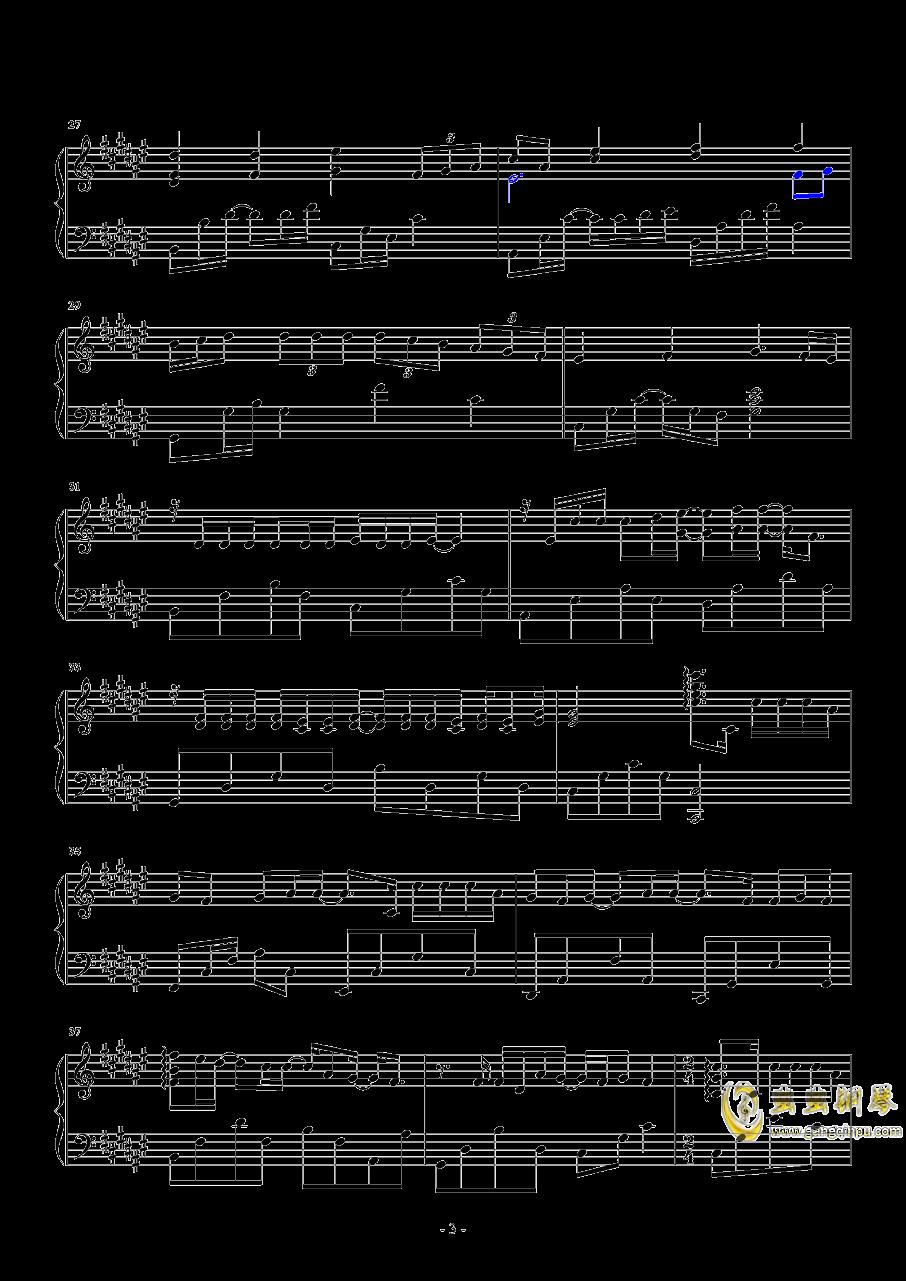 不再见面钢琴谱 第3页