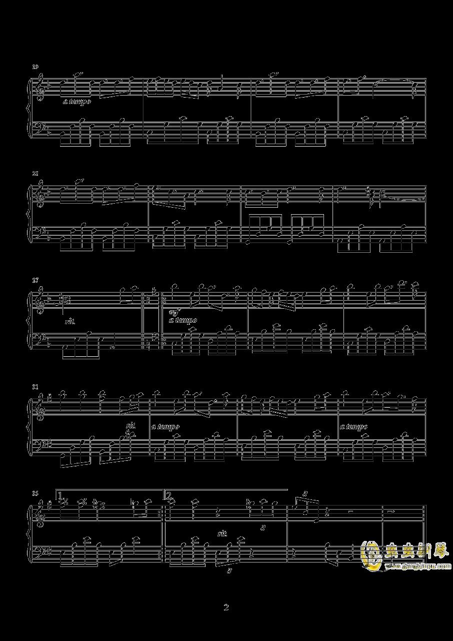 秘密花园钢琴谱 第2页
