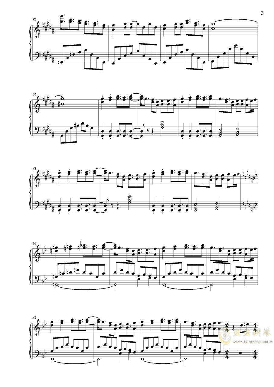 寄世界于偶像钢琴谱 第3页