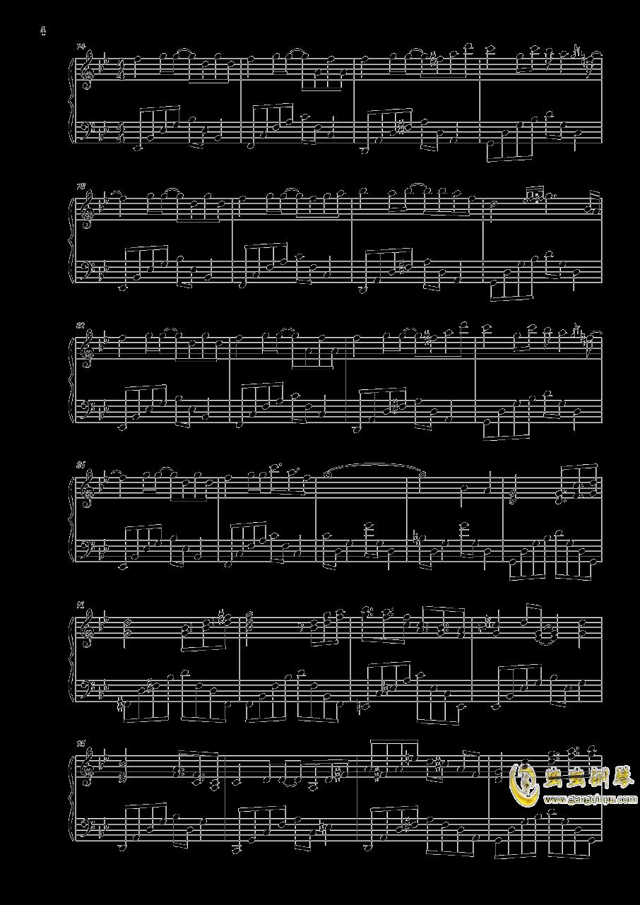 寄世界于偶像钢琴谱 第4页
