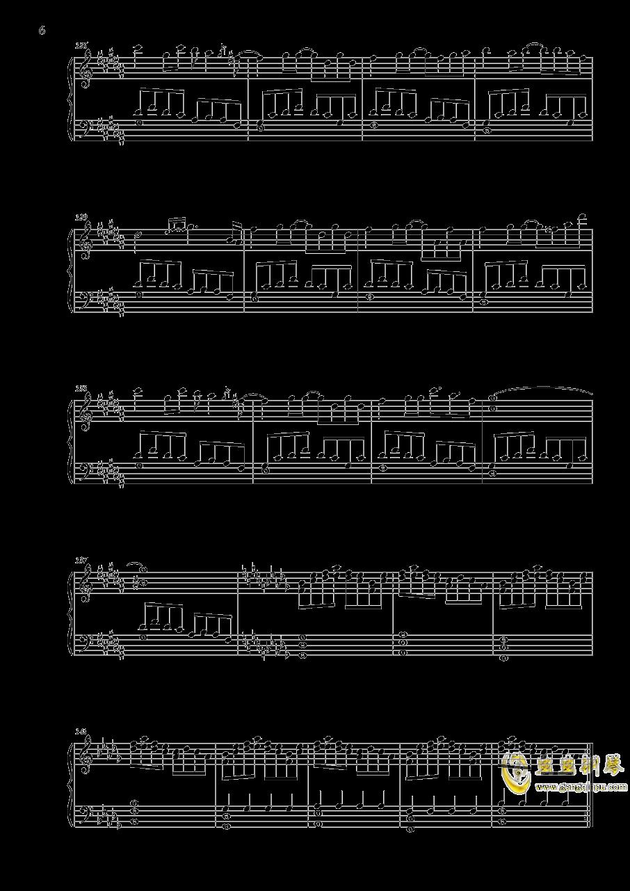 寄世界于偶像钢琴谱 第6页